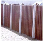 Concrete Posts and Fence