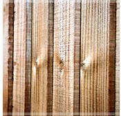 Timber fencing boards